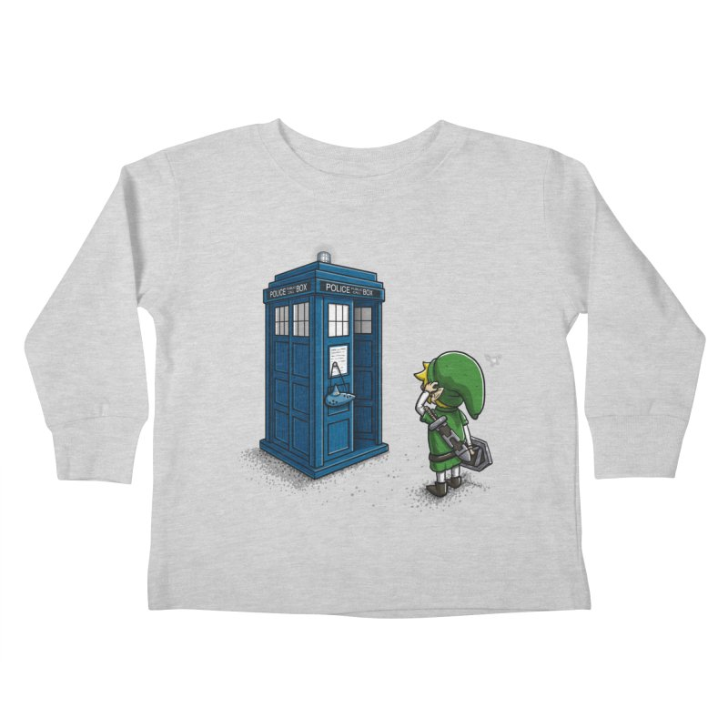 The Ocarina of Time Travel Kids Toddler Longsleeve T-Shirt by WIRDOU