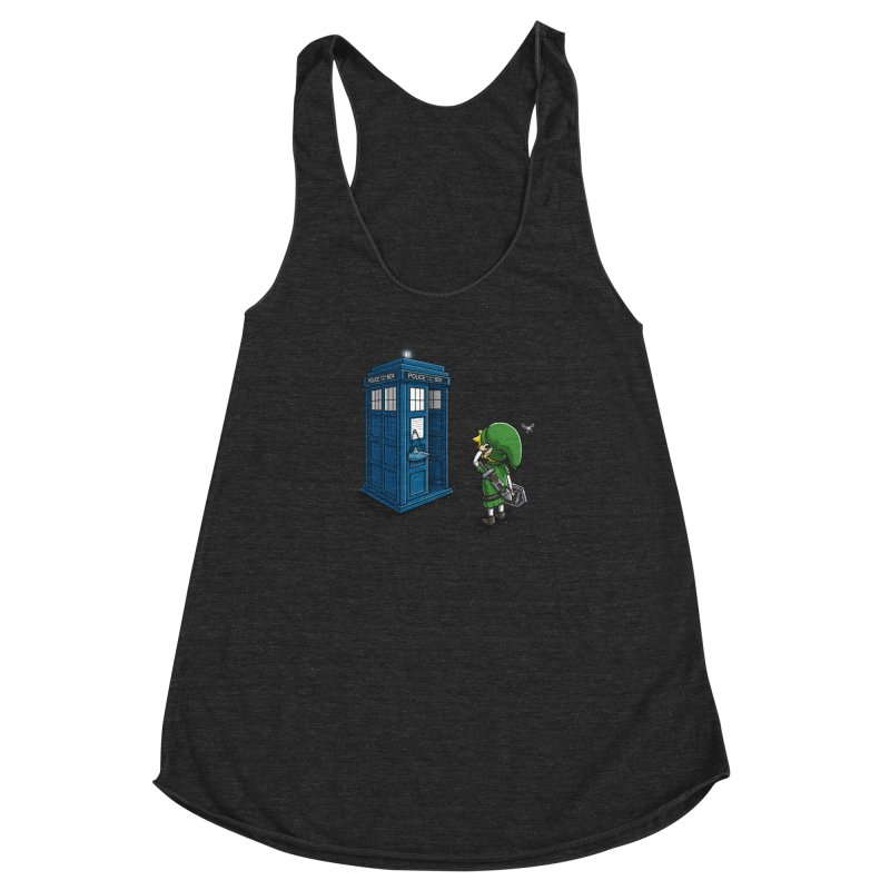 The Ocarina of Time Travel Women's Racerback Triblend Tank by WIRDOU