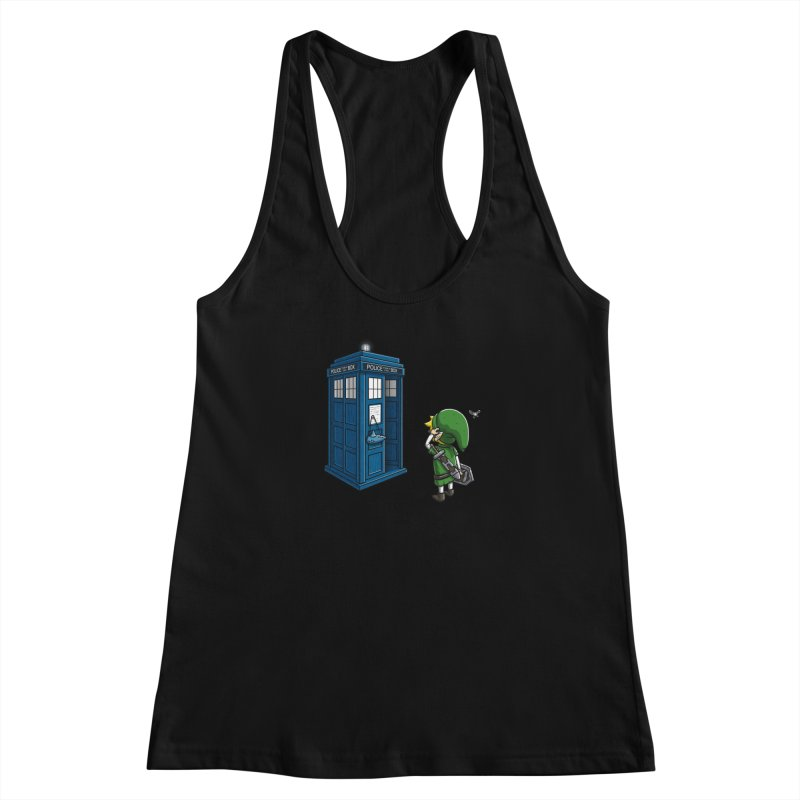 The Ocarina of Time Travel Women's Racerback Tank by WIRDOU
