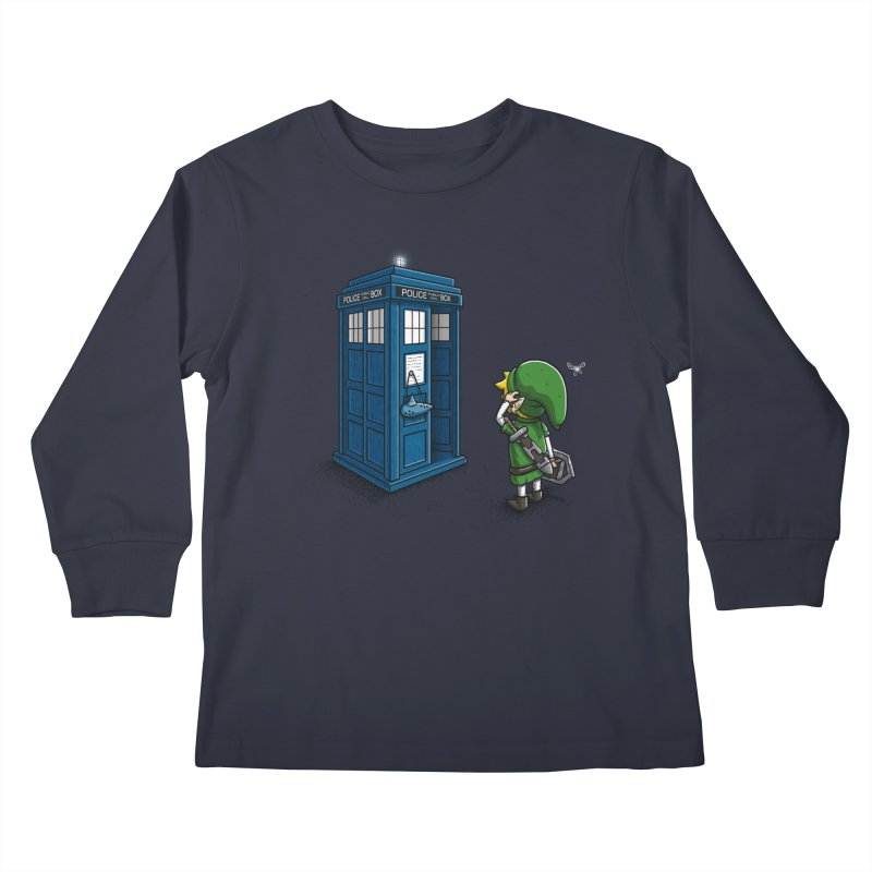 The Ocarina of Time Travel Kids Longsleeve T-Shirt by WIRDOU