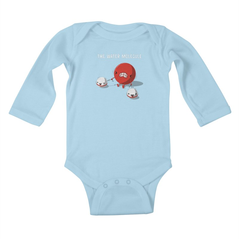 The water molecule Kids Baby Longsleeve Bodysuit by WIRDOU