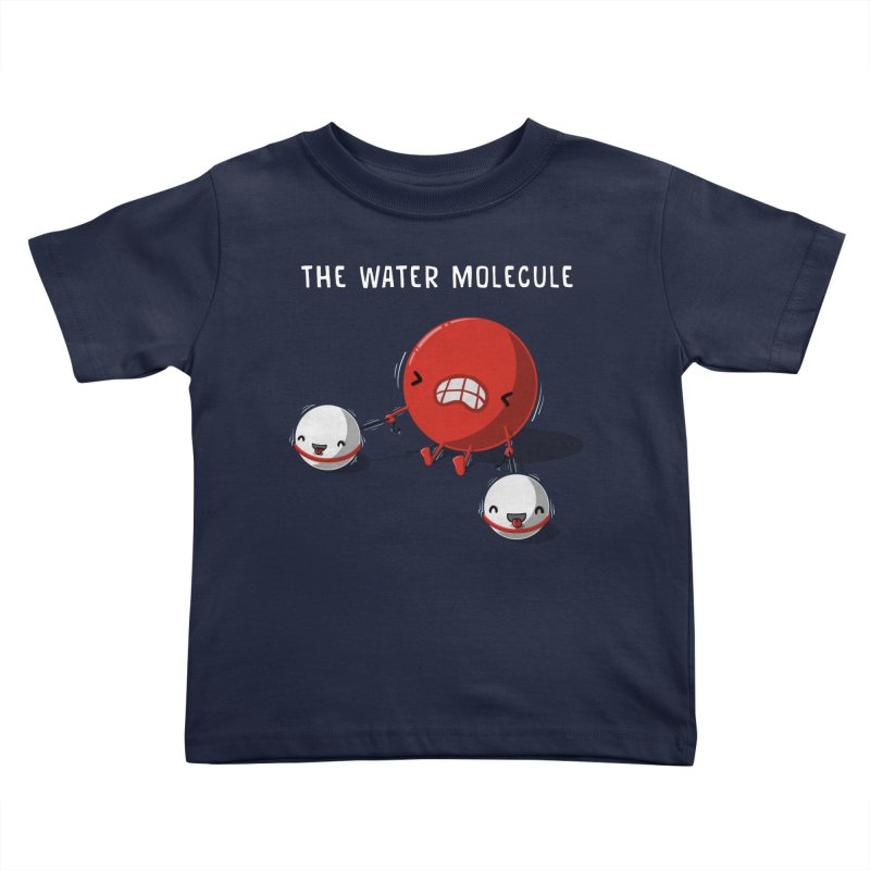 The water molecule Kids Toddler T-Shirt by WIRDOU