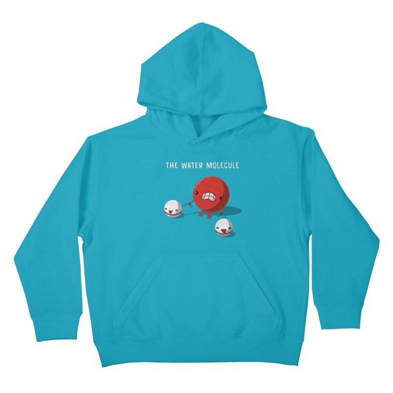 The water molecule Kids Pullover Hoody by WIRDOU