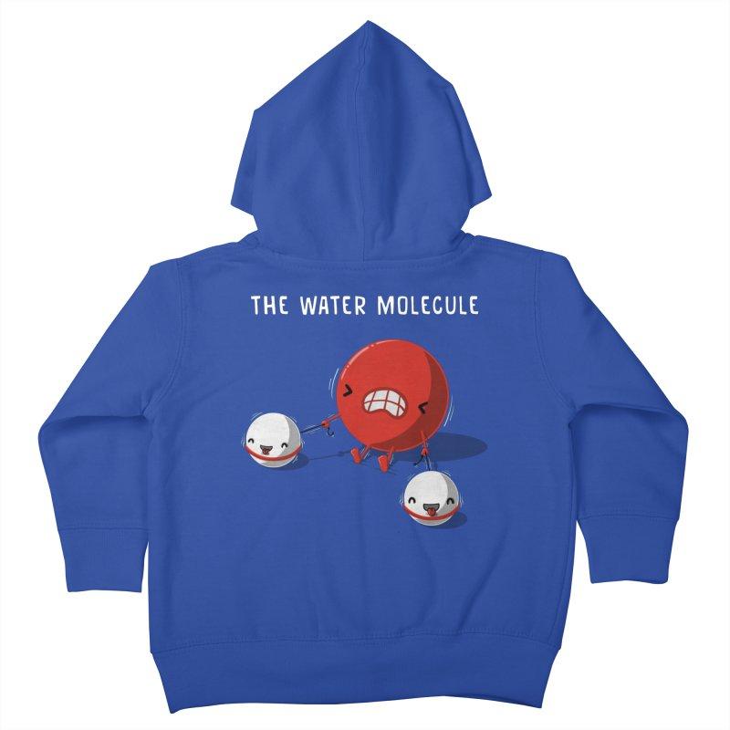 The water molecule Kids Toddler Zip-Up Hoody by WIRDOU