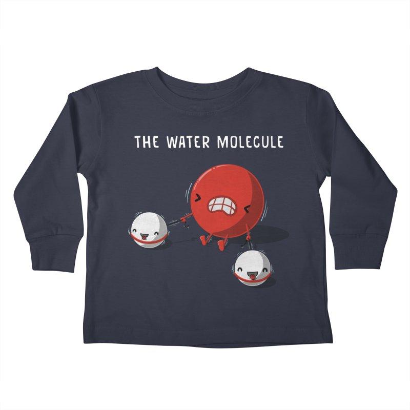 The water molecule Kids Toddler Longsleeve T-Shirt by WIRDOU