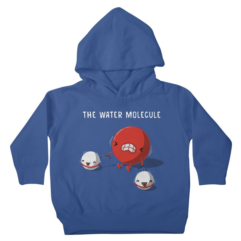 The water molecule Kids Toddler Pullover Hoody by WIRDOU