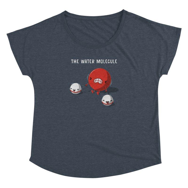 The water molecule Women's Dolman by WIRDOU
