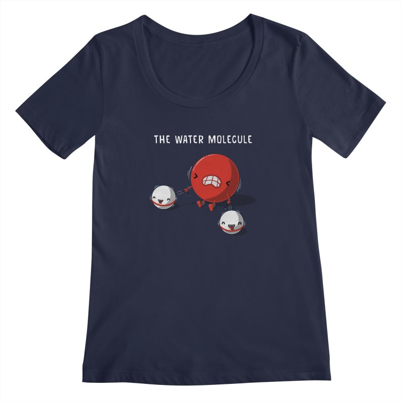 The water molecule Women's Scoopneck by WIRDOU