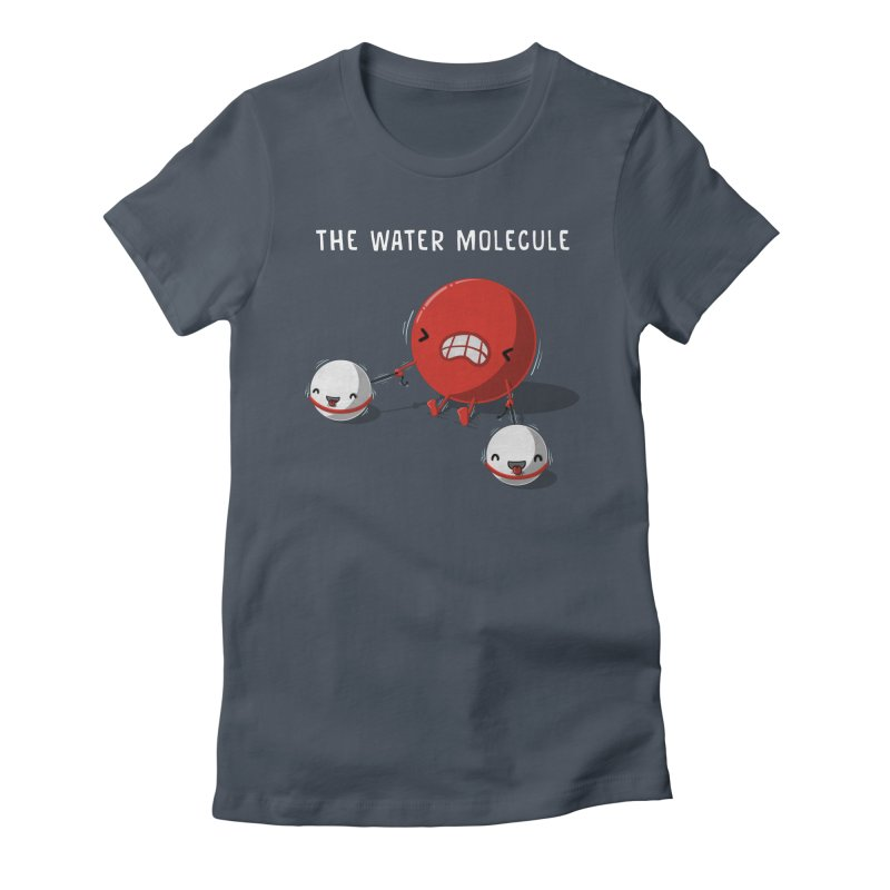 The water molecule Women's Fitted T-Shirt by WIRDOU