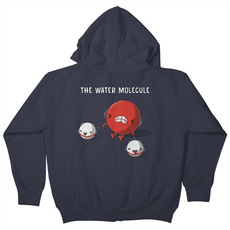 The water molecule Kids Zip-Up Hoody by WIRDOU