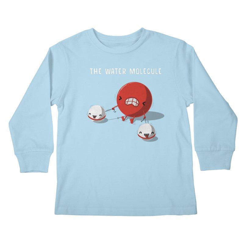 The water molecule Kids Longsleeve T-Shirt by WIRDOU