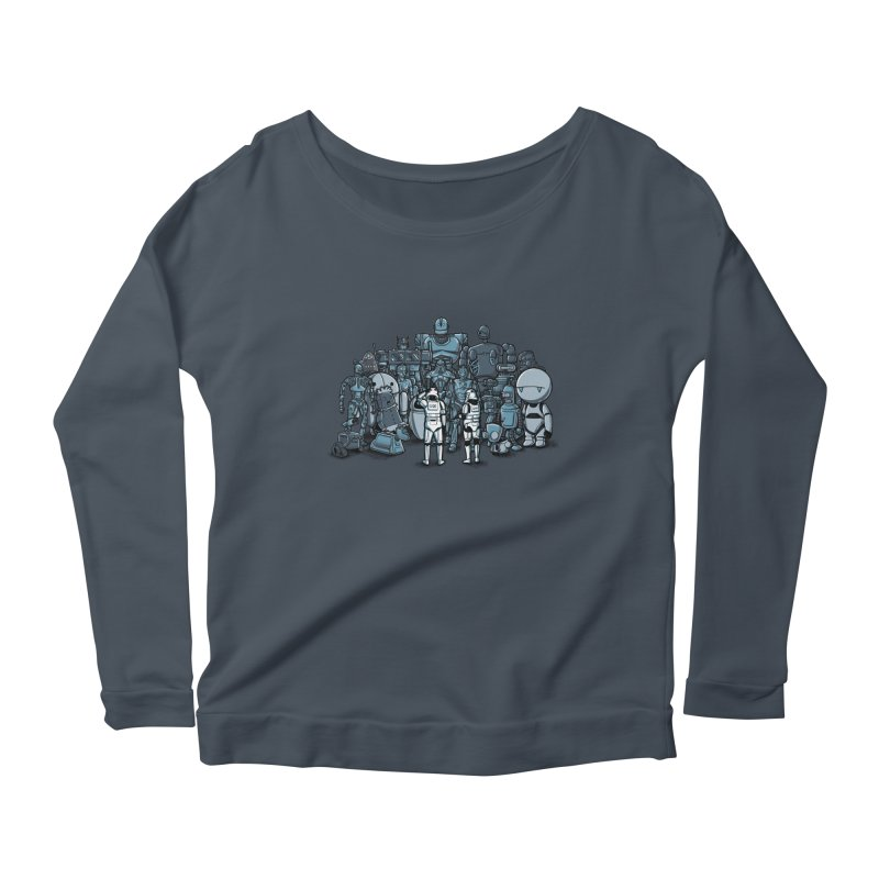 These aren't the droids you are looking for Women's Longsleeve Scoopneck  by WIRDOU