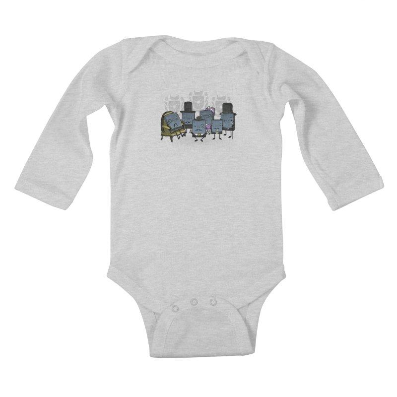 Noble Gases Kids Baby Longsleeve Bodysuit by WIRDOU