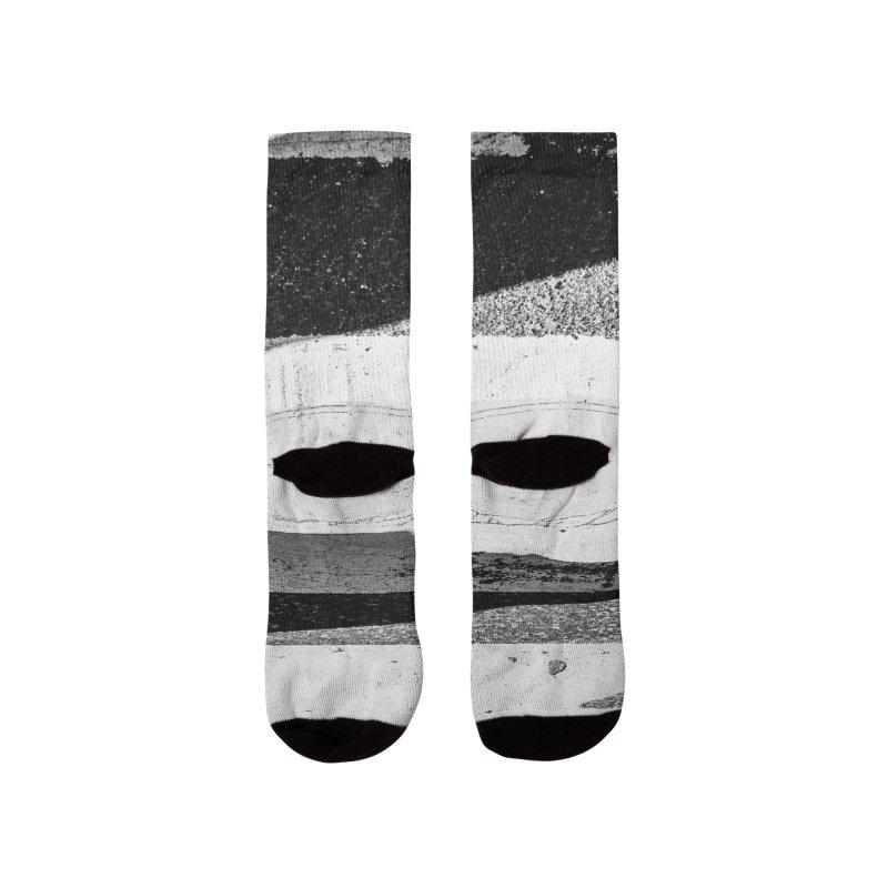 CROSWALK - B&W Women's Socks by WISE FINGER LAB