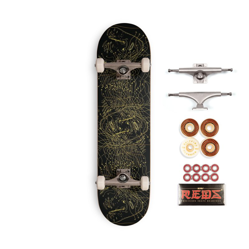 COMPENDIUMS - BLACK AND GOLD Accessories Skateboard by WISE FINGER LAB