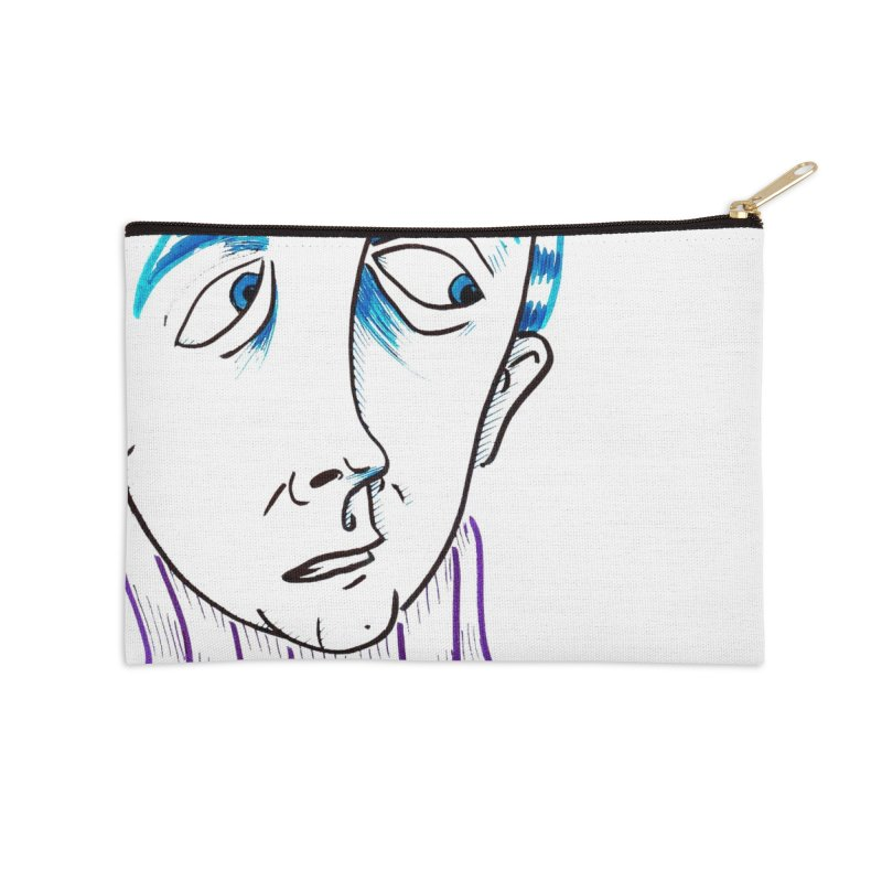 WORRIED SIR Accessories Zip Pouch by WISE FINGER LAB