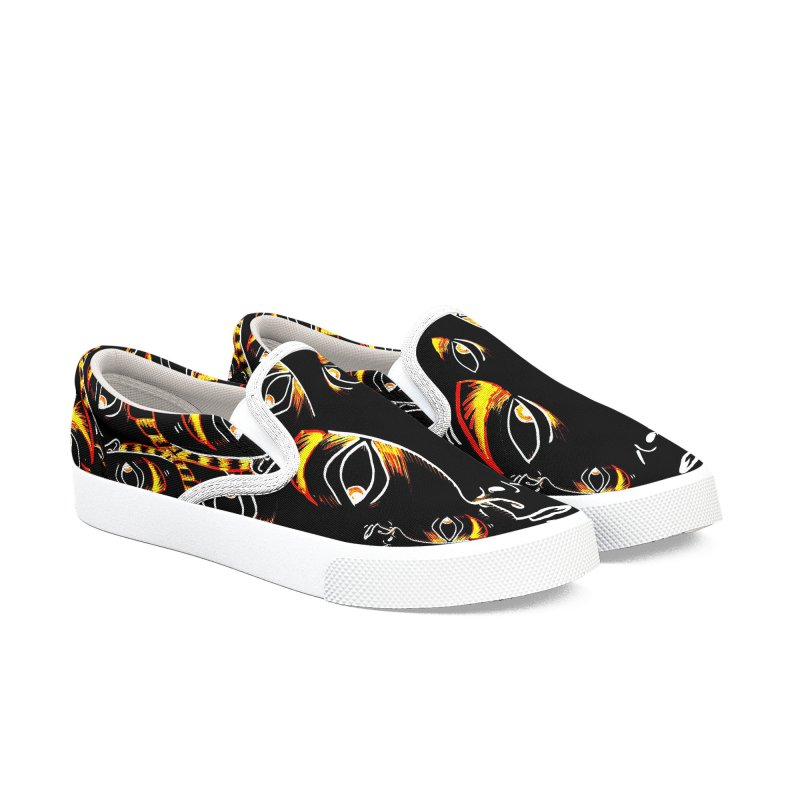 WORRIED SIR - COSMIC CHEETAH - WHITE BINDING Women's Shoes by WISE FINGER LAB