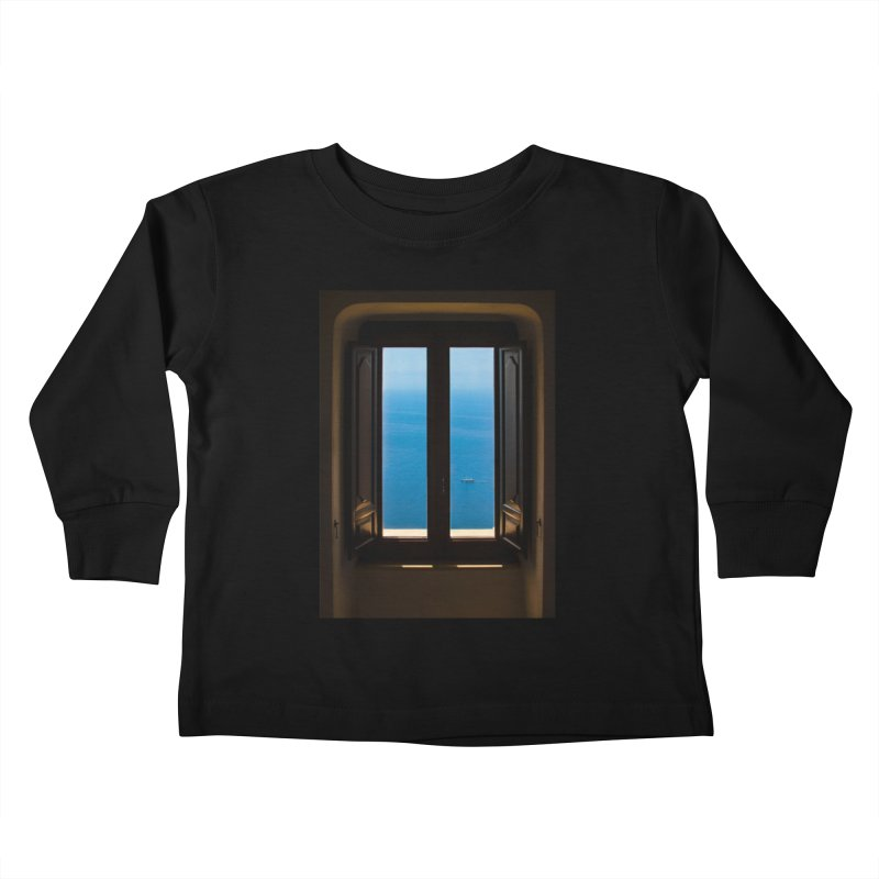 A WINDOW TO THE END OF THE WORLD Kids Toddler Longsleeve T-Shirt by WISE FINGER LAB
