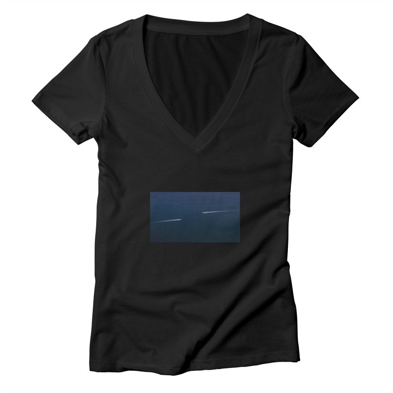 THE PATH AHEAD Women's V-Neck by WISE FINGER LAB