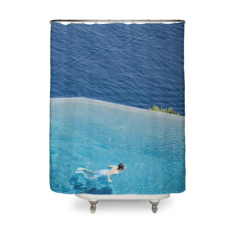 DIVIDED Home Shower Curtain by WISE FINGER LAB