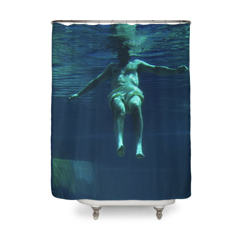FLOAT SERIES - MIND AND BODY - COLOR - MAN 4 Home Shower Curtain by WISE FINGER LAB