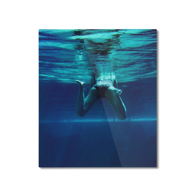 FLOAT SERIES - MIND AND BODY - COLOR - WOMAN 2 Home Mounted Aluminum Print by WISE FINGER LAB