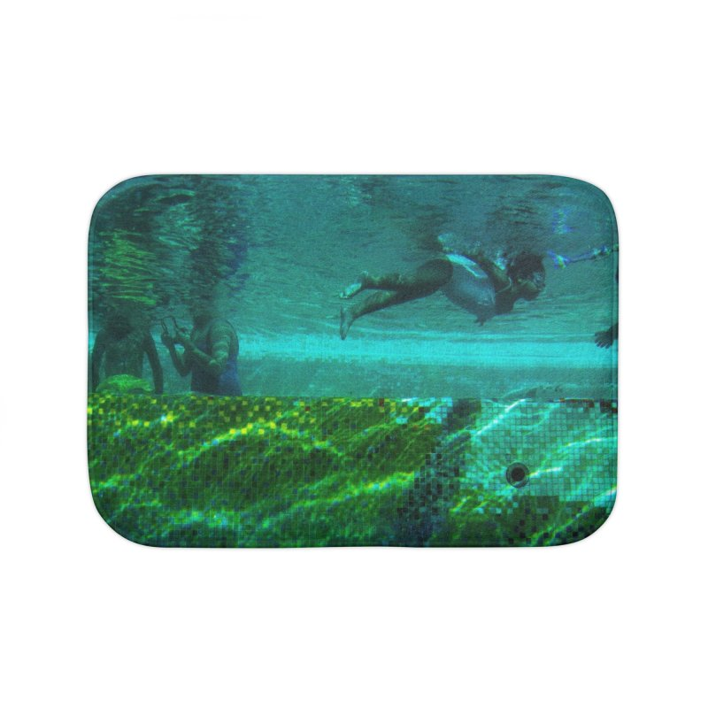 FLOAT SERIES - FINDING HER FINS - COLOR - 1 Home Bath Mat by WISE FINGER LAB