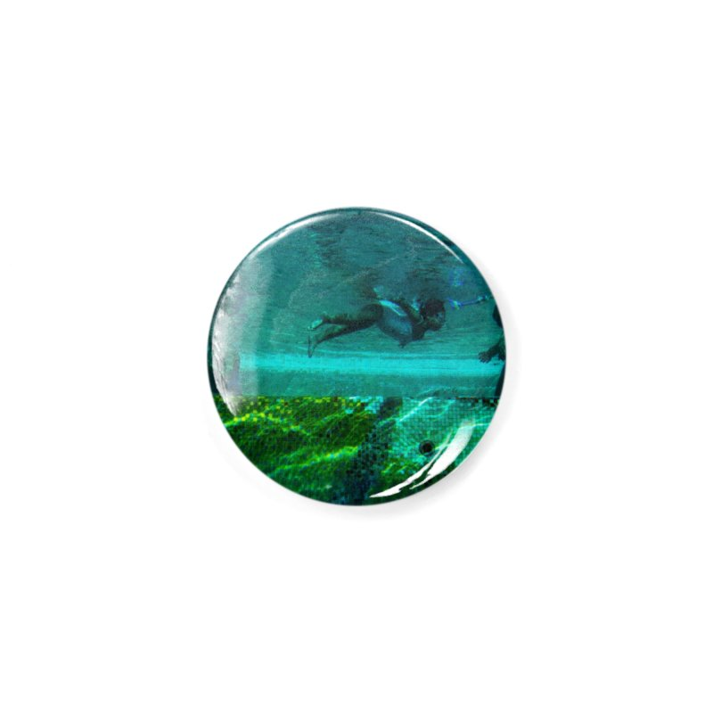 FLOAT SERIES - FINDING HER FINS - COLOR - 1 Accessories Button by WISE FINGER LAB