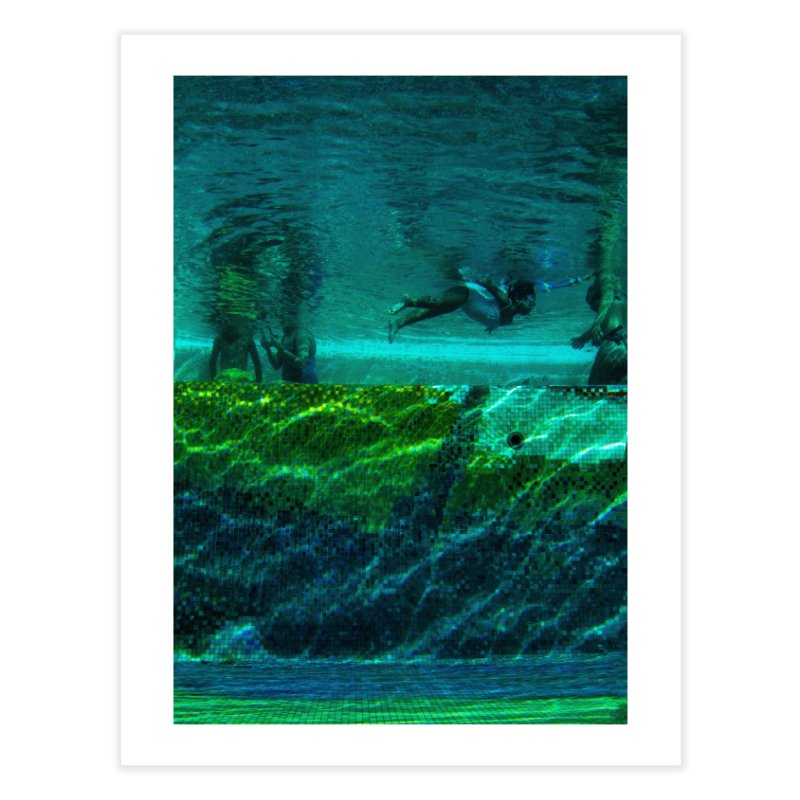 FLOAT SERIES - FINDING HER FINS - COLOR - 1 Home Fine Art Print by WISE FINGER LAB