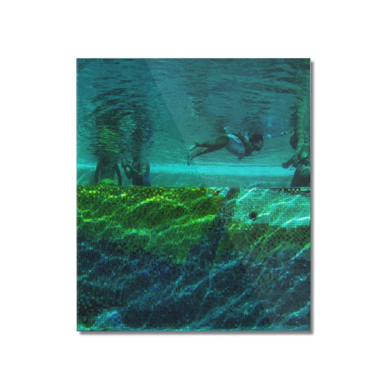 FLOAT SERIES - FINDING HER FINS - COLOR - 1 Home Mounted Acrylic Print by WISE FINGER LAB