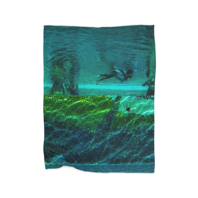 FLOAT SERIES - FINDING HER FINS - COLOR - 1 Home Blanket by WISE FINGER LAB