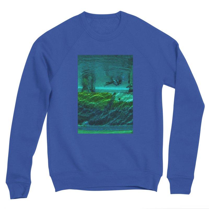 FLOAT SERIES - FINDING HER FINS - COLOR - 1 Men's Sweatshirt by WISE FINGER LAB