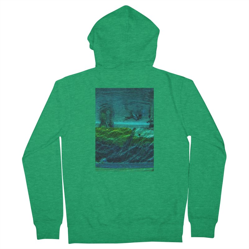 FLOAT SERIES - FINDING HER FINS - COLOR - 1 Men's Zip-Up Hoody by WISE FINGER LAB