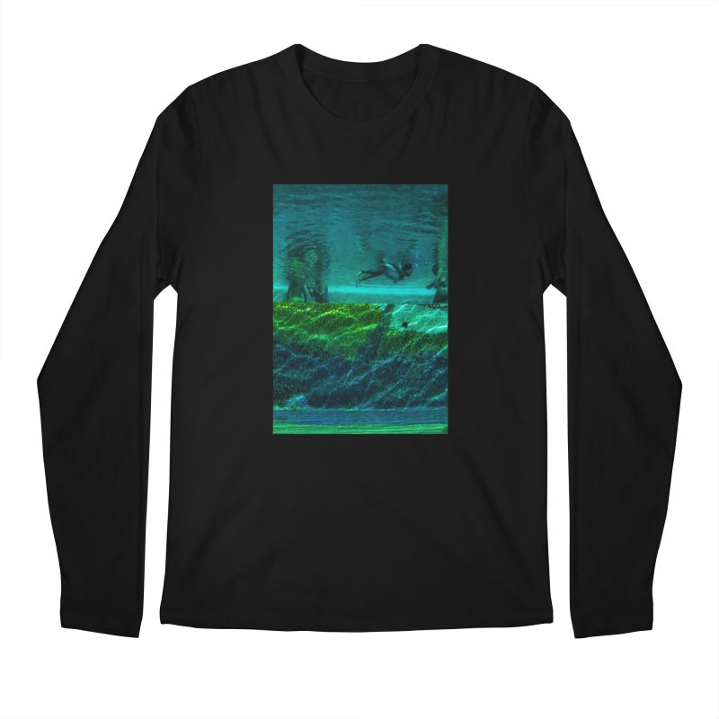 FLOAT SERIES - FINDING HER FINS - COLOR - 1 Men's Longsleeve T-Shirt by WISE FINGER LAB