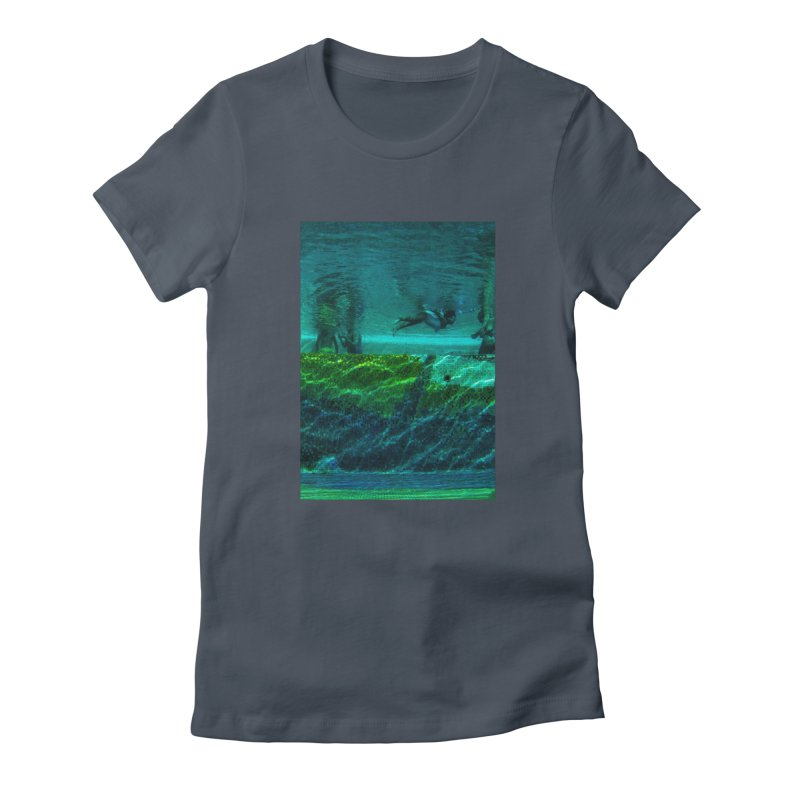 FLOAT SERIES - FINDING HER FINS - COLOR - 1 Women's T-Shirt by WISE FINGER LAB