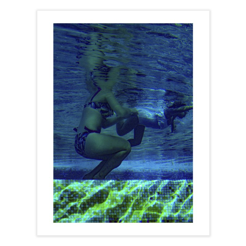 FLOAT SERIES - FINDING HER FINS  - COLOR - 2 Home Fine Art Print by WISE FINGER LAB