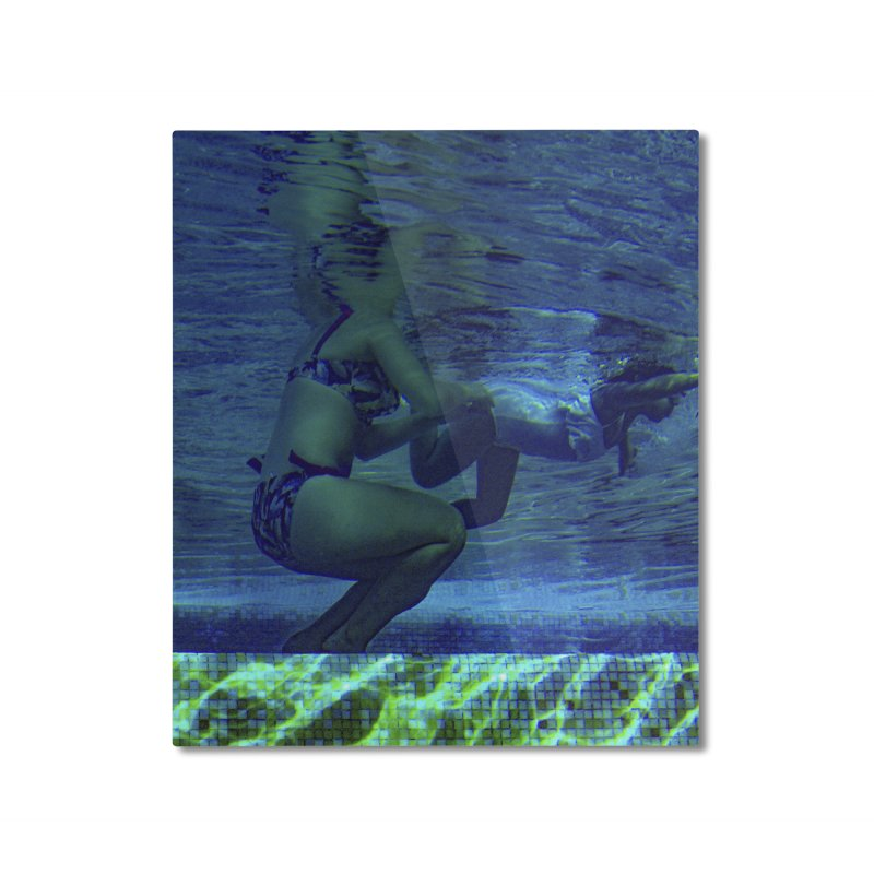 FLOAT SERIES - FINDING HER FINS  - COLOR - 2 Home Mounted Aluminum Print by WISE FINGER LAB