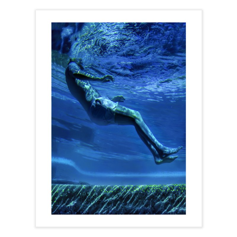 FLOAT SERIES - MIND AND BODY - COLOR - MAN 1 Home Fine Art Print by WISE FINGER LAB