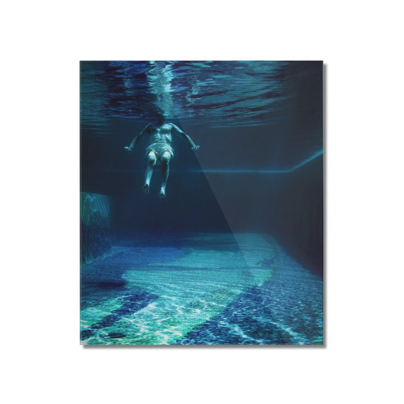 FLOAT SERIES - MIND AND BODY - COLOR - MAN 2 Home Mounted Acrylic Print by WISE FINGER LAB