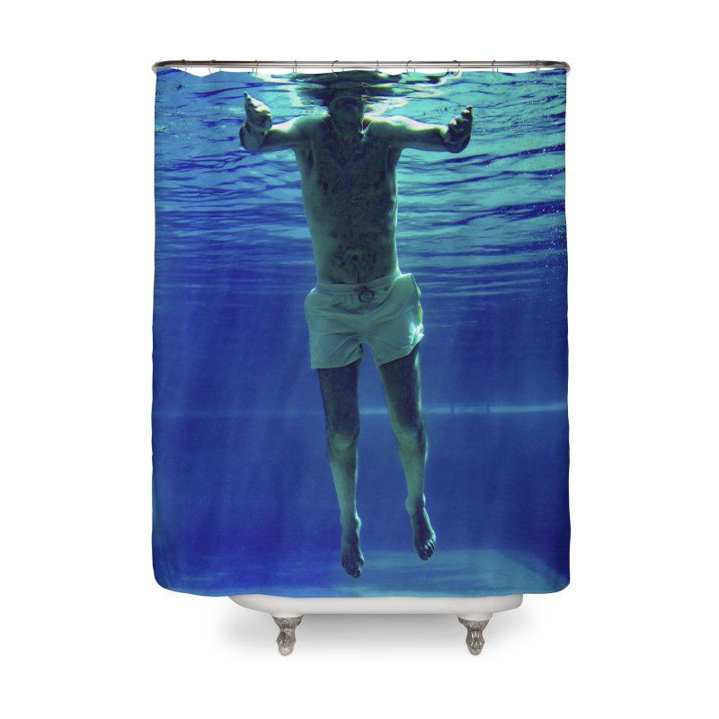 FLOAT SERIES - MIND AND BODY - COLOR - MAN 3 Home Shower Curtain by WISE FINGER LAB