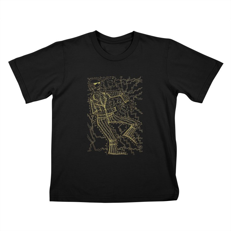 ELECTRONIQUE Kids T-Shirt by WISE FINGER LAB