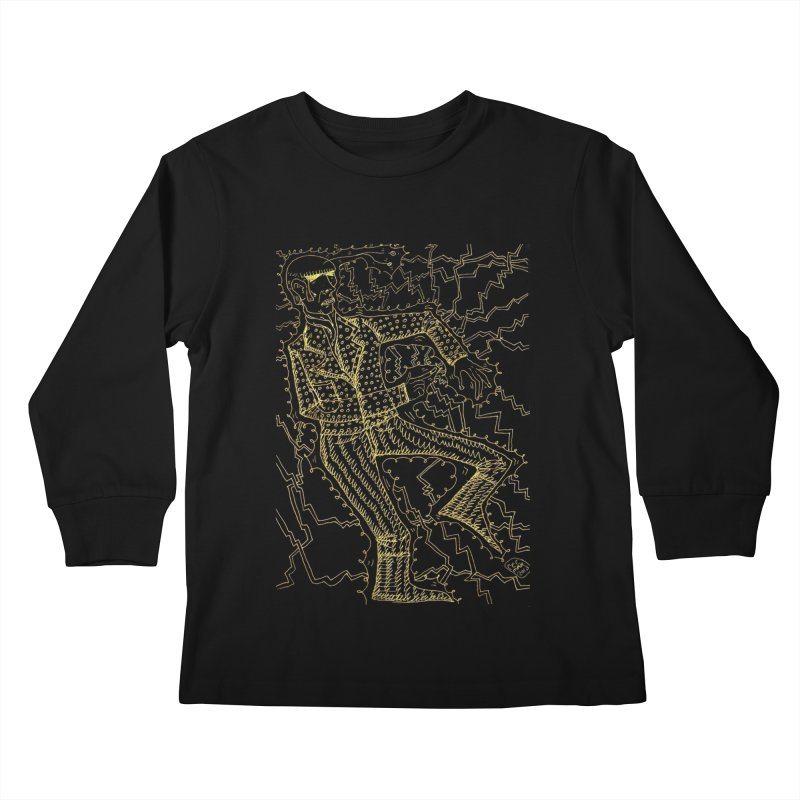 ELECTRONIQUE Kids Longsleeve T-Shirt by WISE FINGER LAB