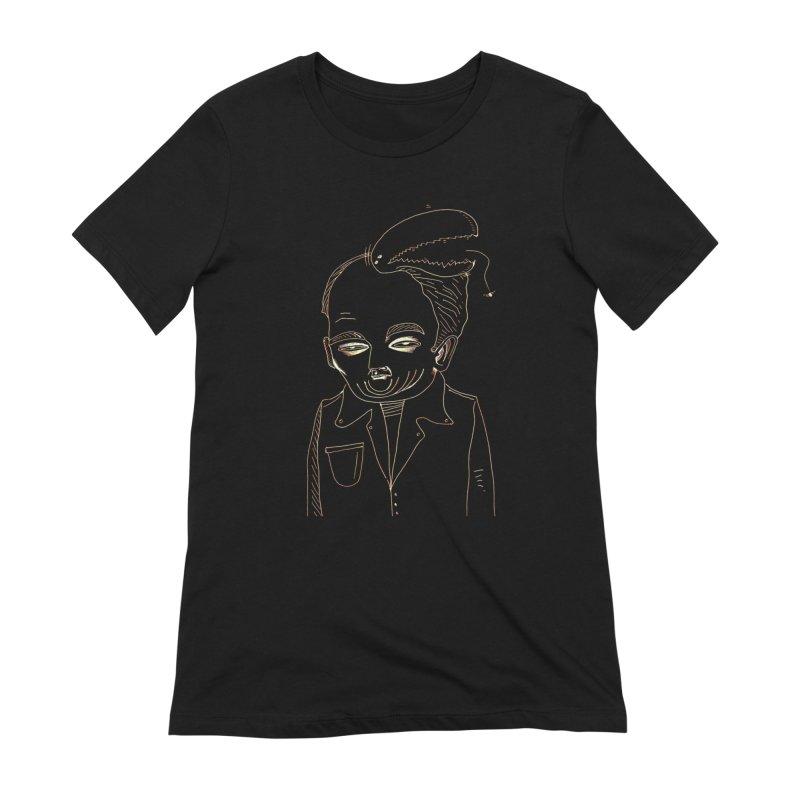 BIRDBRAIN MANDIBLE Women's T-Shirt by WISE FINGER LAB