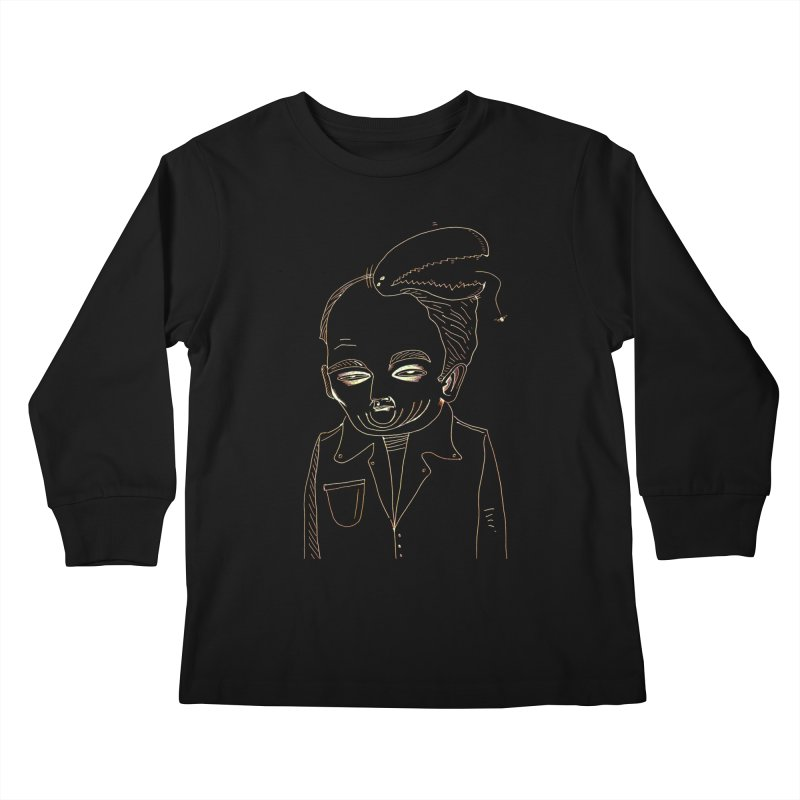 BIRDBRAIN MANDIBLE Kids Longsleeve T-Shirt by WISE FINGER LAB