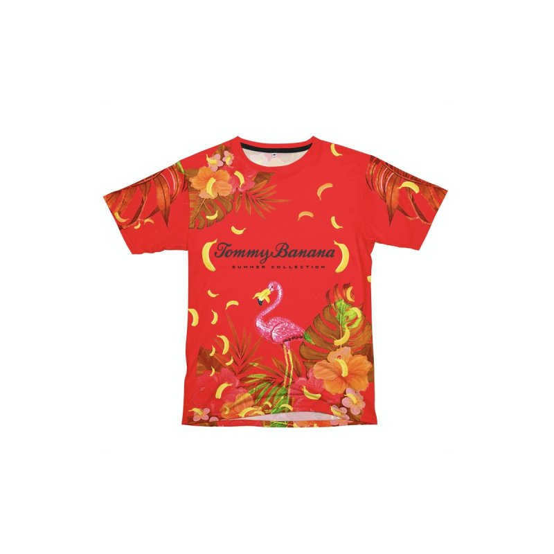 TOMMY BANANA - RED ICULOUS Men's Cut & Sew by WISE FINGER LAB