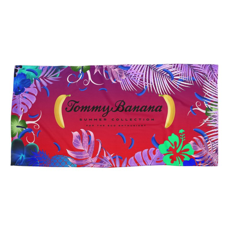 TOMMY BANANA - RED DAWN - BEACH TOWEL Accessories Beach Towel by WISE FINGER LAB
