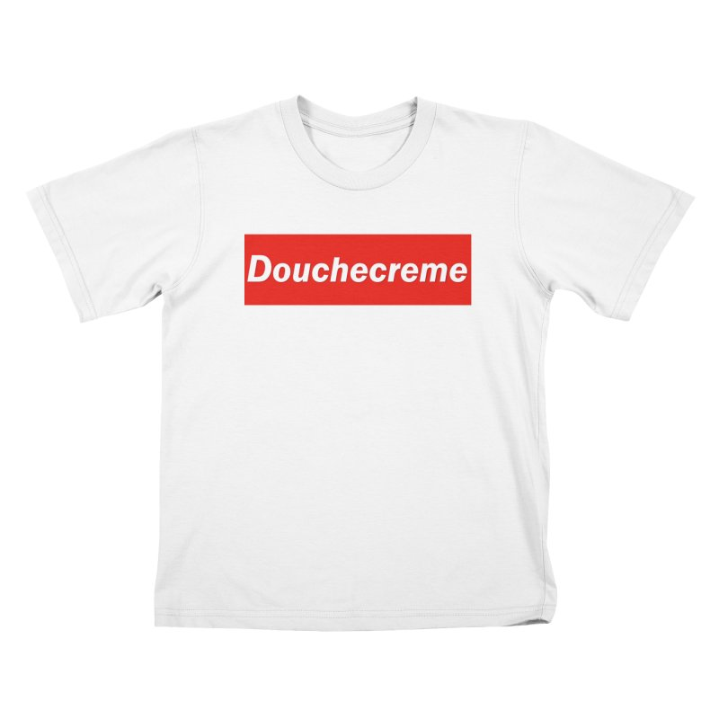 DOUCHECREME Kids T-Shirt by WISE FINGER LAB
