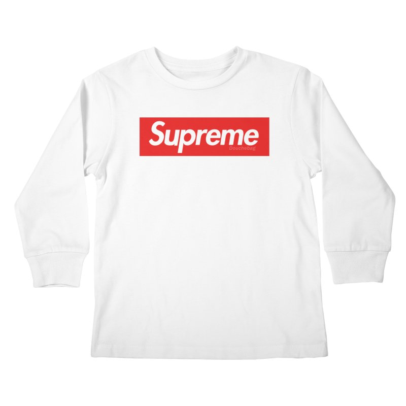 SUPREME DOUCHEBAG Kids Longsleeve T-Shirt by WISE FINGER LAB