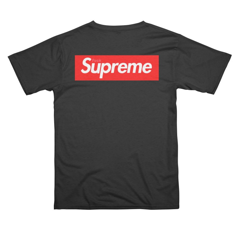 FUCK SUPREME Men's Cut & Sew by WISE FINGER LAB