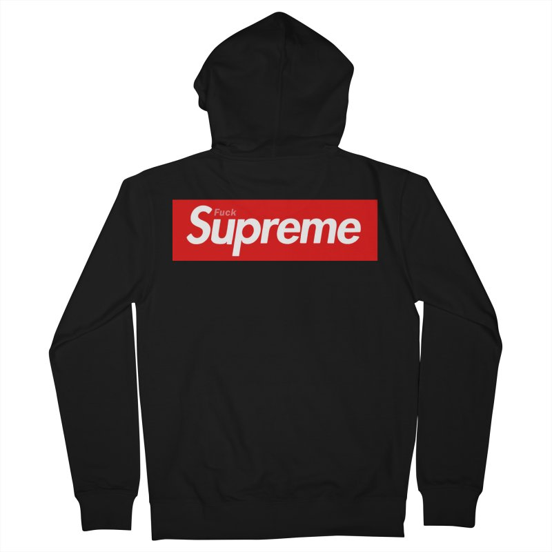 FUCK SUPREME Women's Zip-Up Hoody by WISE FINGER LAB